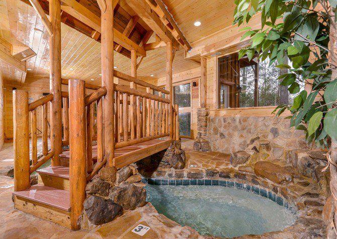 Pigeon Forge Cabin Cooper River Indoor Pool Indoor Pool Luxury Pool Luxury Swimming Pools