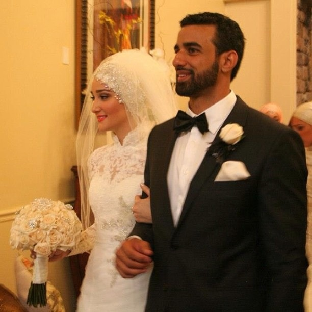 Yazthespaz wedding style, LOVE the hijab #PerfectMuslimWedding.com