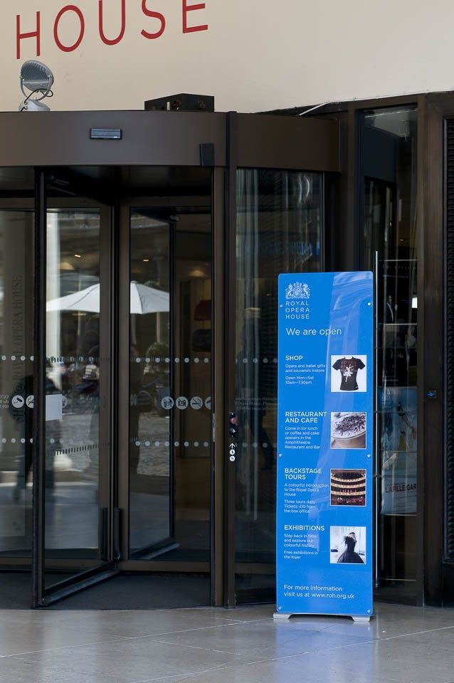 Floor standing acrylic sign display ROH