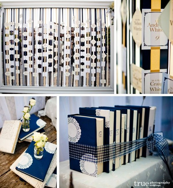 escort table and guest book table