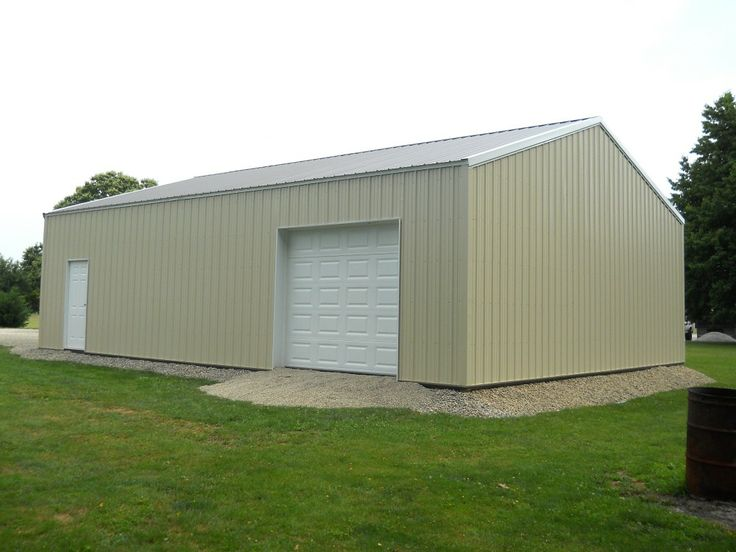 Building dimensions 30 w x 40 l x 10 4 h id 368 for 4 car pole barn
