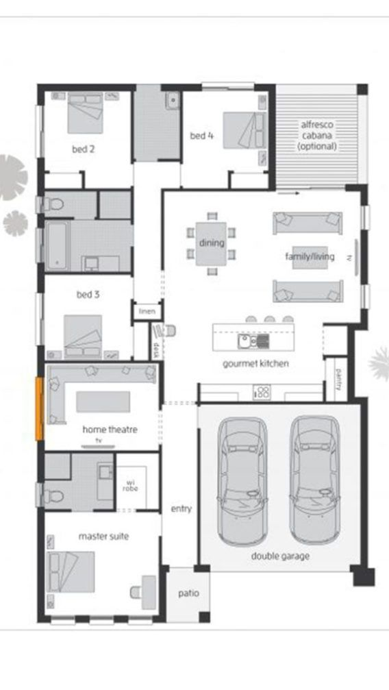 Home Design 40x60f With 4 Bedrooms Sam House Plans House Floor Plans Modern House Floor Plans Duplex House Plans