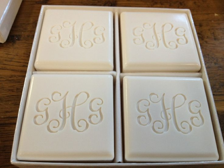 Monogram Box of Soaps available in different Fonts