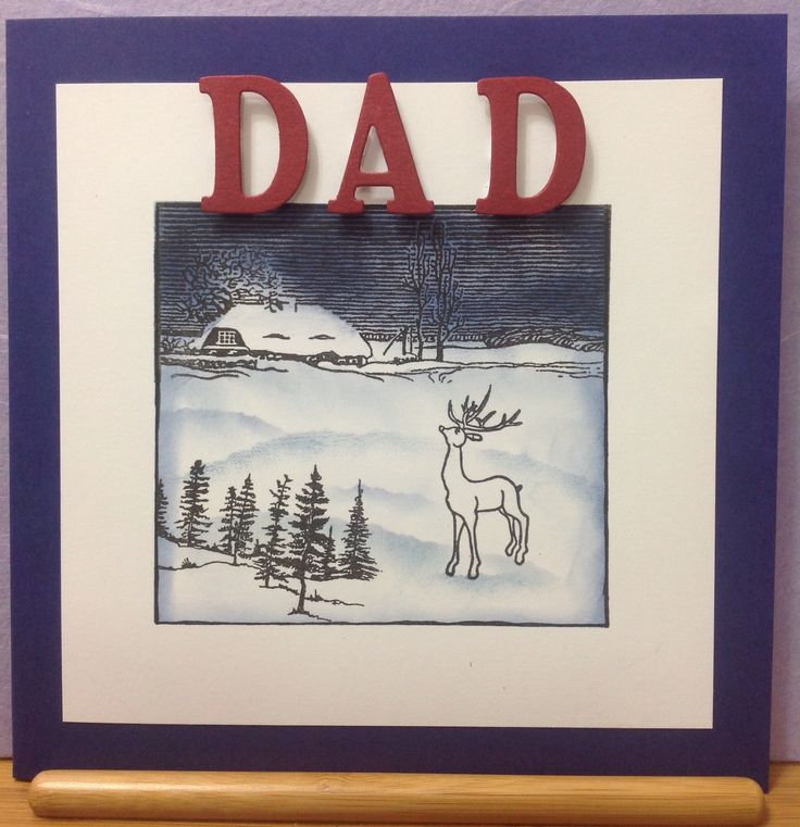 For Dad, made using Claritystamps