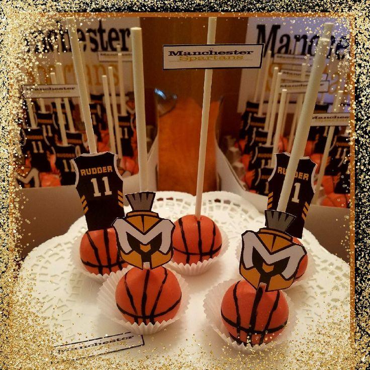 Basket Ball Cake Pops Manchester Spartans #THECAKEPOPFAIRIES