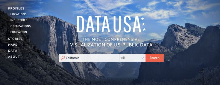 Big data USA - an interactive data visualisation of massive, open government data