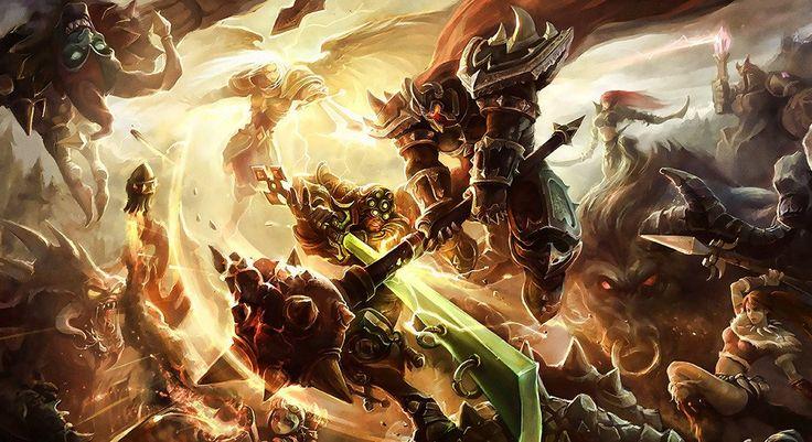 League of Legends Battle Heroes Poster Hình nền, Quái