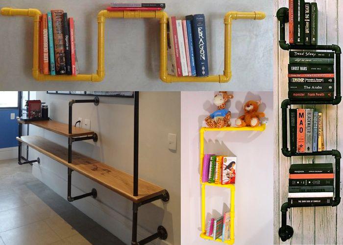 Devolva meu livro, por favor: Como fazer uma estante com canos de PVC?