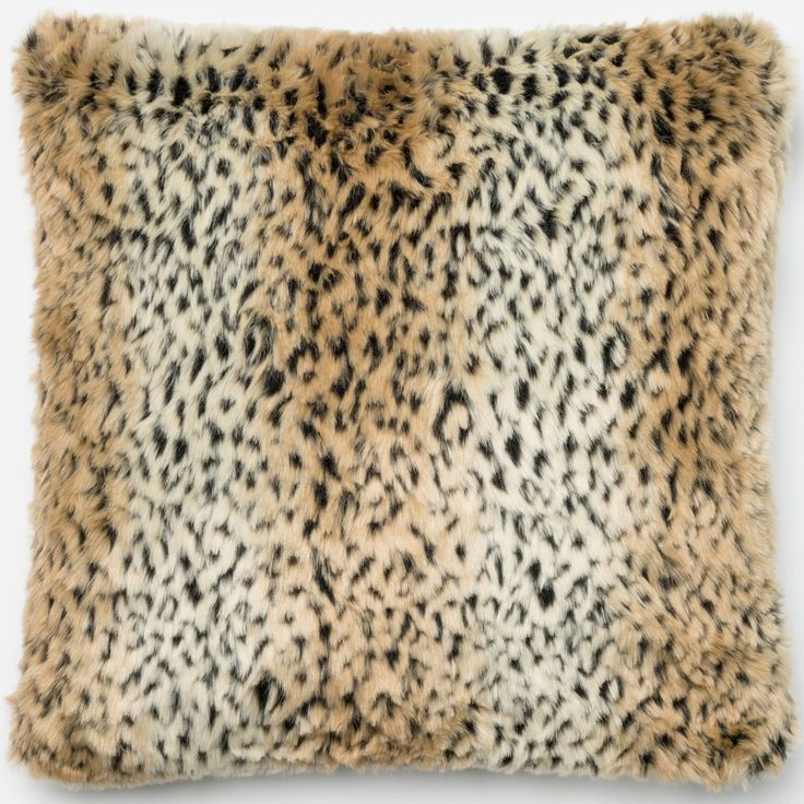 Add a wild feel with the exotic luxury and impeccable taste of this faux fur pillow.  This down or polyester filled pillow or pillow cover is made of 100-percent acrylic faux fur for an expensive look at an affordable price.