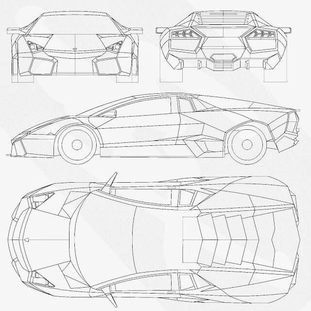 53 best car blueprints images on pinterest blues specs and car sketch most loved car blueprints for modeling malvernweather Gallery