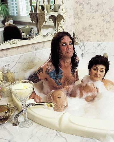 ozzy & sharon osbourne! SHARRRONN!! Lol! What is happening in this photo?! Lol!