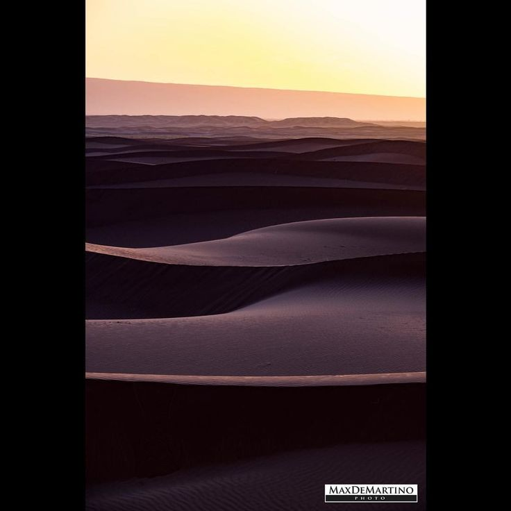 Sahara sunrise. See this Instagram photo by @maxdemartino