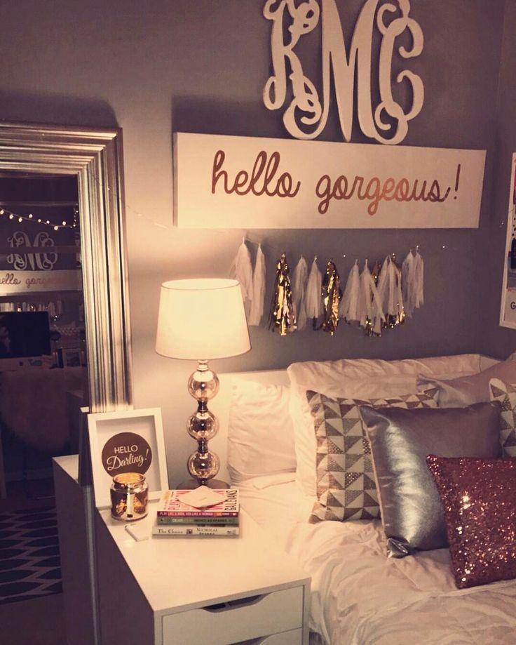 Cozy Teenager Bedroom Idea | Grey and Pink Bedroom | Glitz and Glamour Bedroom