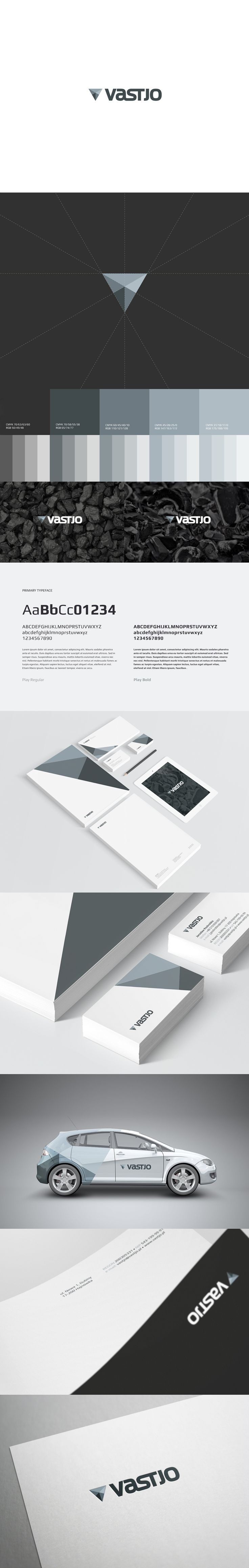 Vastjo: Company Identity and Branding Spread | #design #identity #branding #logo #business #marketing #advertising