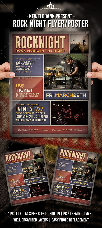 Rock Night Flyer / Poster