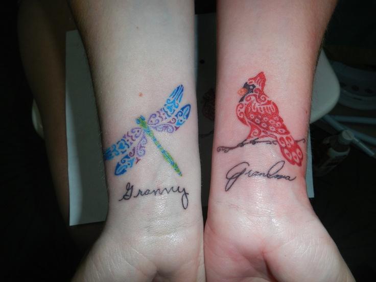 Dragonfly cardinal tattoos tattoo 39 s pinterest for Small cardinal tattoo