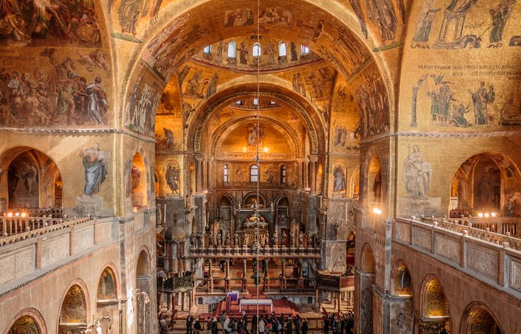 11 best arte romanica e gotica images on pinterest holy for Interno basilica san marco