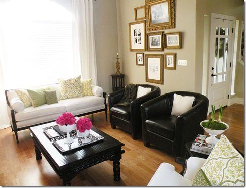 Cream Gold And Black Living Room For The Home Pinterest