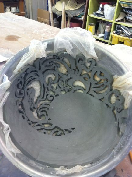 This is some interesting cutting on this hand made bowl!