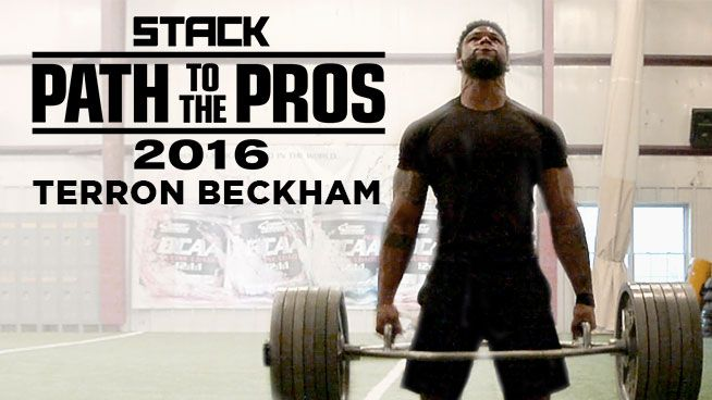 Former bodybuilder and cousin to Odell Beckham Jr., Terron Beckham trains at Test Football Academy in New Jersey as he prepares for the NFL Combine and NFL Draft. Find out how far he's come to accomplish his dream of playing in the NFL.