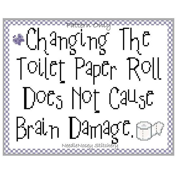 Funny Cross Stitch Pattern Instant Download PATTERN by NeedleNosey