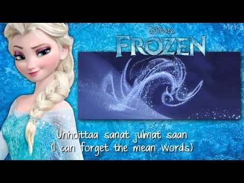 Frozen - Let It Go (Finnish) subs&trans FULL SONG - YouTube
