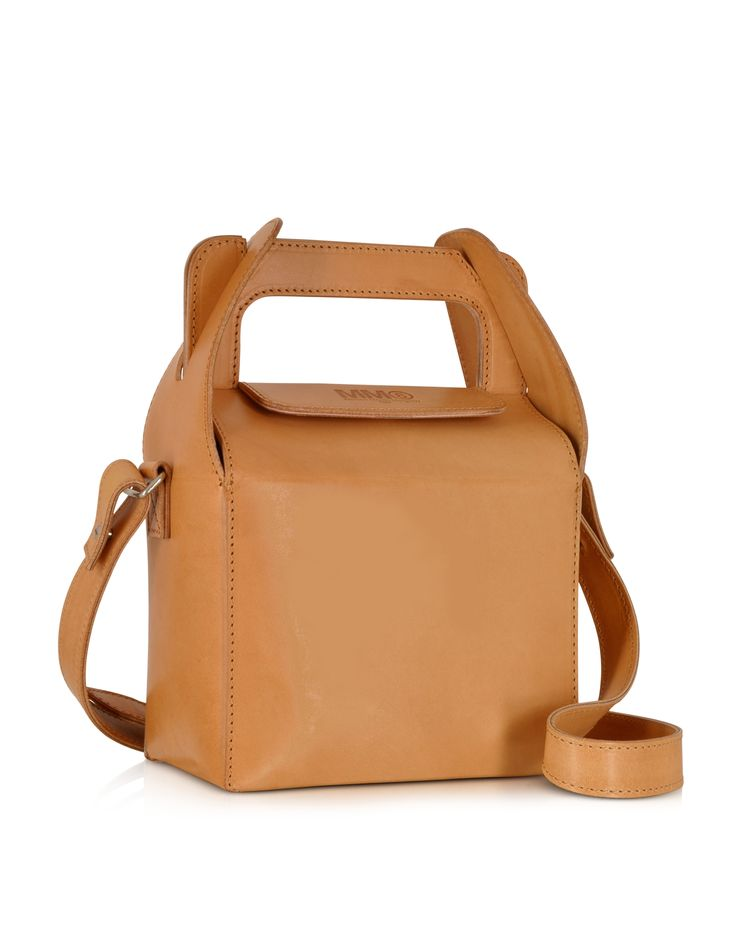 MM6 Maison Martin Margiela Natural Leather Lunch Box Bag at FORZIERI