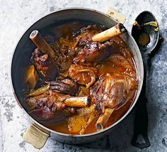 A cross between a Persian stew and Moroccan tagine, the spices in this slow cooked one-pot are mellow. Serve with rice, couscous or flatbreads
