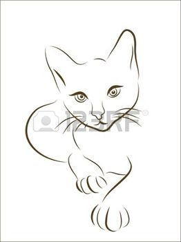 silhouette chat: illustration graphique de chasse chat  Illustration