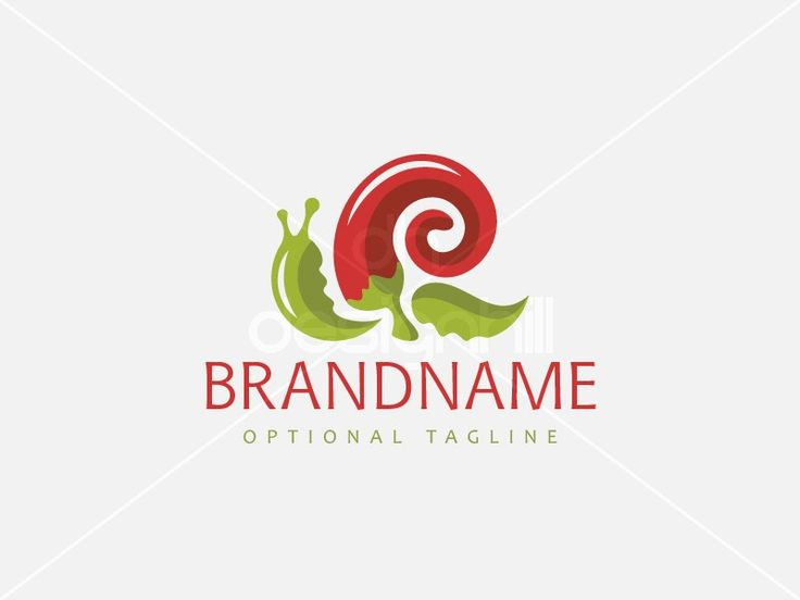 New logo design for sale on Design Hill - plant, restaurant, house, home, hot, leaf, natural, pepper, shell, scroll, spiral, sauce, snail, culinary, chili, slow, delicacy, slug, conch, mollusk, bistro, food, eat, organic, cooking, creative, red, green, delivery, logo, design, template,