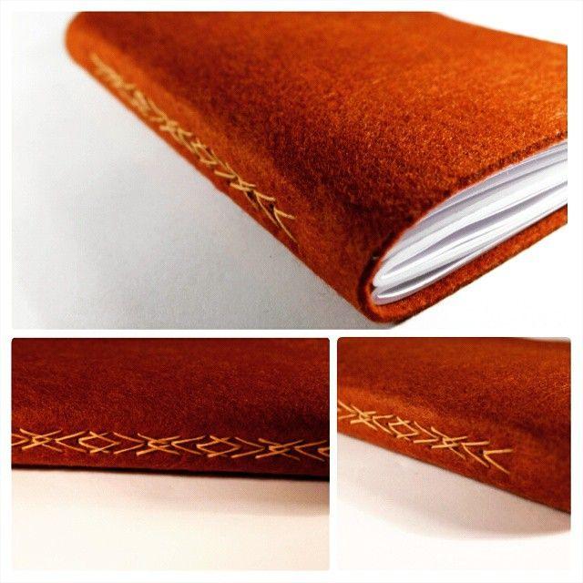 """""""#de7tasarim #handmade #feltcover #sketchbook #elyapimi yeni kahve #kece #defter"""""""