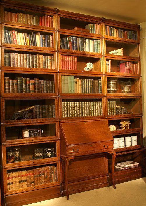 HUGE GLOBE WERNICKE LIBRARY BUREAU BOOKCASE BARRISTERS SOLICITORS OAK SECTONAL