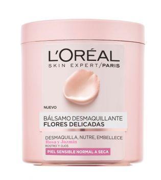 Loreal Paris - Bálsamo desmaquillante Flores delicadas Rosa & Jazmín - Piel sensible, normal a seca