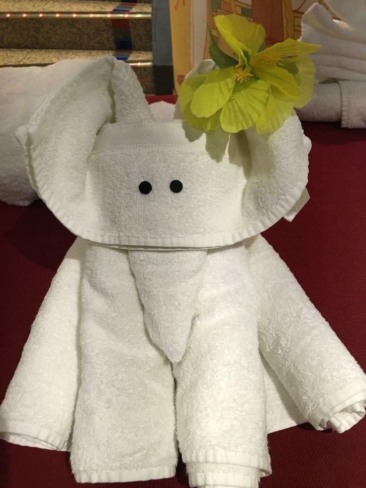 Mouse towel folding animal creation