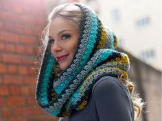 Schals häkeln: Warme Kapuzenschals für den Winter - Selbermachen