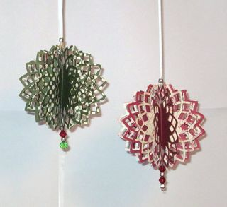 spellbinders ornament die ideas | Since I'm starting to get into the holidy mood...I made these ...
