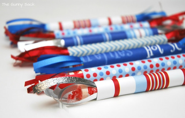 Smarties Firecracker Treats and other fun 4th of July ideas // The Gunny Sack