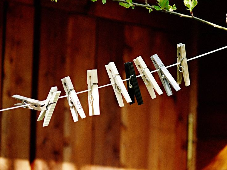Clothespins on a String