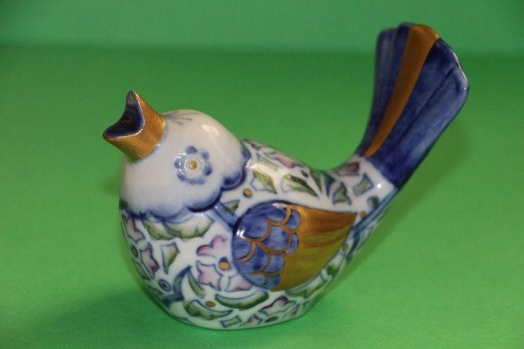 Golden Crown E&R Italy Vintage Decorative Porcelain Bird rare