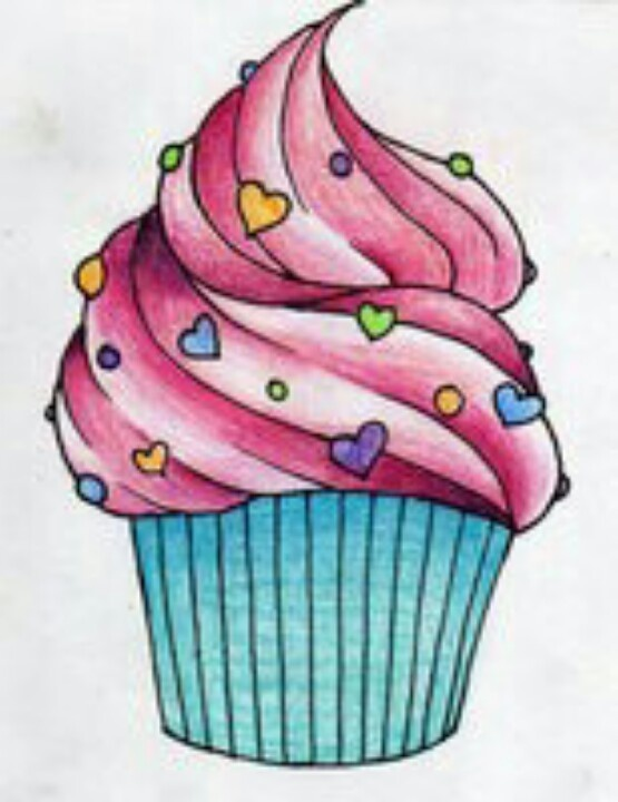 17 best images about cupcakes sister tattoo on pinterest for Cute muffin drawing