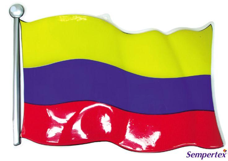 Decoración Plástica  Bandera Colombia 46 x 34cm x1