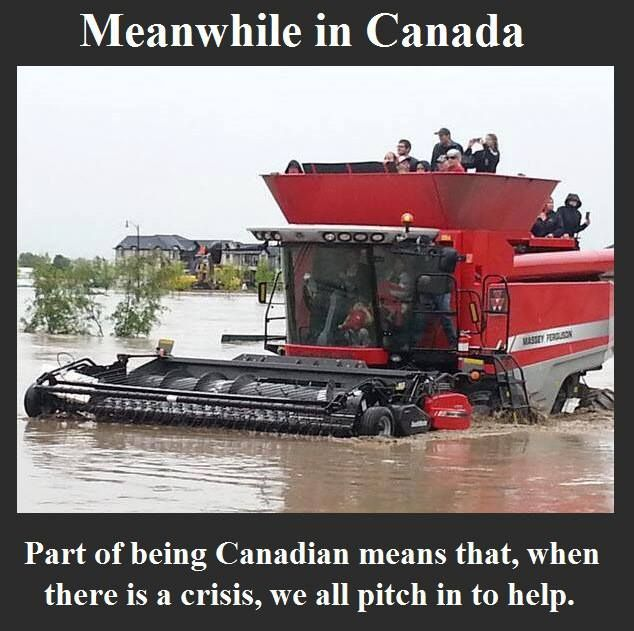 during the ALBERTA CANADA floods 2013