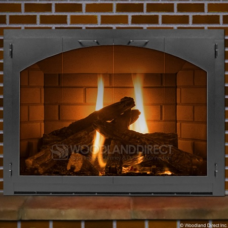 Carolina Arch Fireplace Glass Door Full View Www