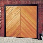 Cardale Futura Chevron Timber Garage Door