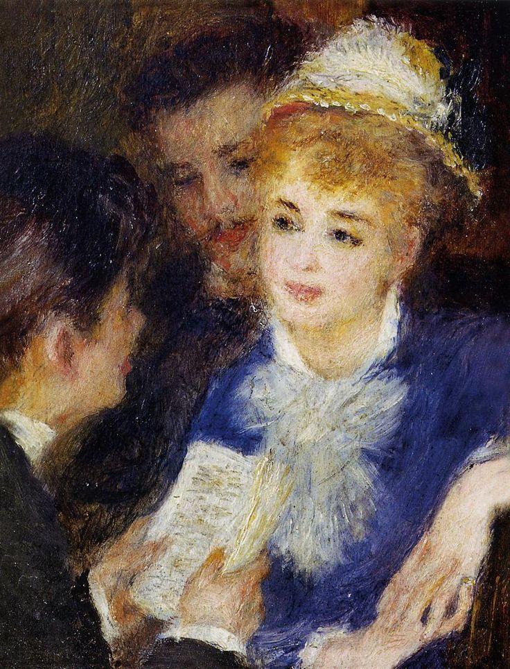 Reading the Part, 1876, Pierre-Auguste Renoir Medium: oil on canvas