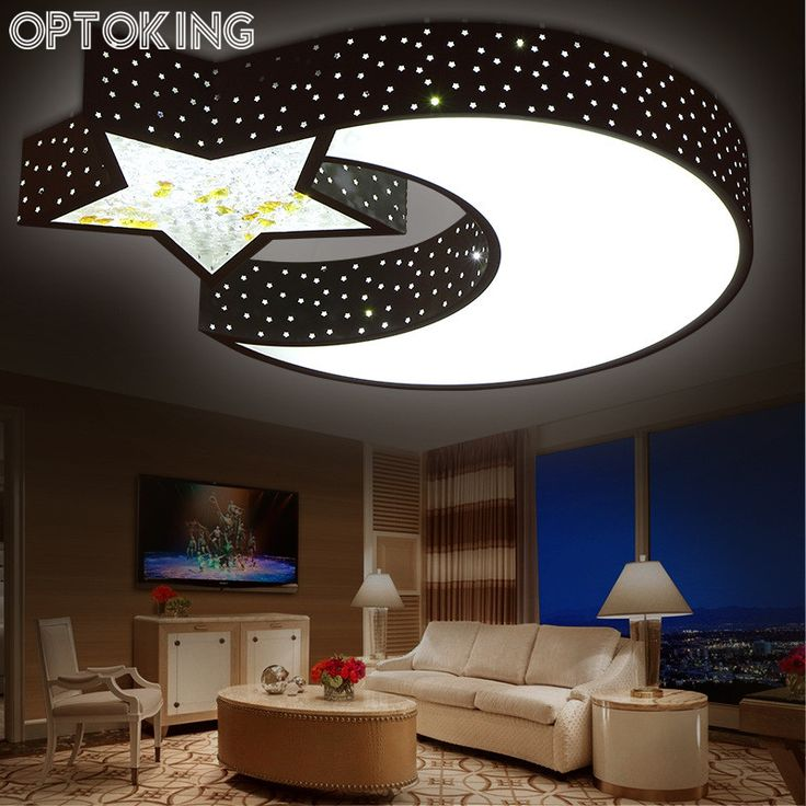 Fashion Modern Living Room Ceiling Light Creative Star Moon Iron Ceiling  Lamps Lovely Art Lamps LED Part 97