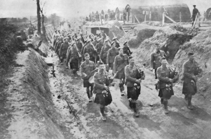 The Seaforth Highlanders of Canada in the trenches at Neuville. 1917.