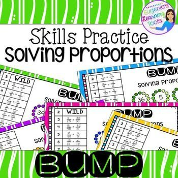 Proportions Skills BUMP Math Station Game. 5 Playing Game boards. Great station game for small group play.