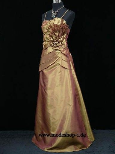 Abendkleid Lang Gr .. 44 46 48 50 52 54 56 58 60 62 64 in Bronze