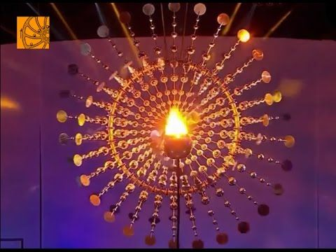 Rio 2016 Olympic cauldron based on Lucea, a kinetic wind sculpture by Anthony Howe - YouTube